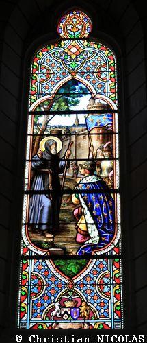 Louis XI - Mettray Eglise St-Symphorien vitrail J Fournier